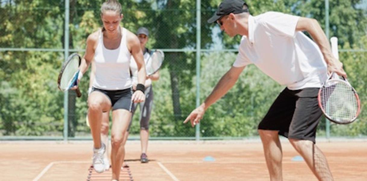 Women sport health - Tennis Training