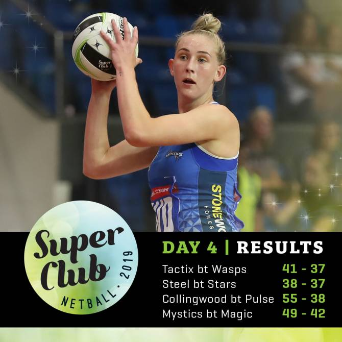 2019 SUPER CLUB | MYSTICS AND COLLINGWOOD TO MEET IN GRAND FINAL