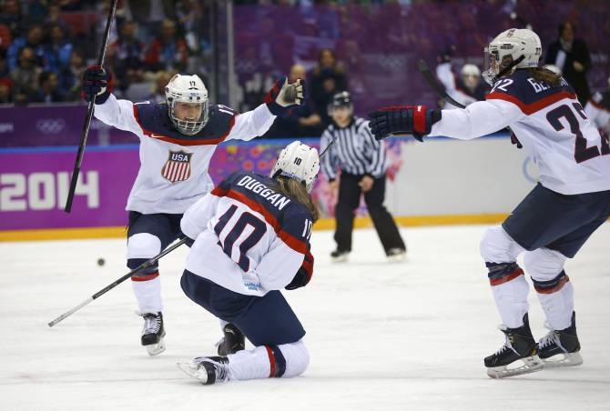 Women sport news - U.S. Shuts Out Russia, 7-0, in Second IIHF Women's Worlds Tilt