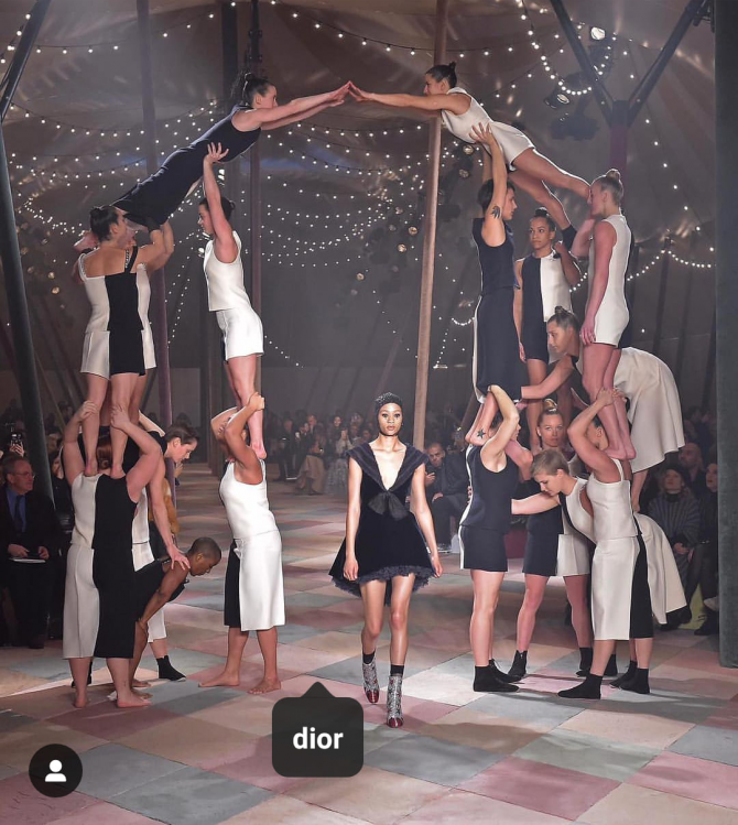 Beautiful acrobats as Dior opens the show