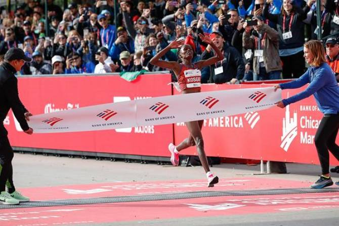 Women sport news - Brigid Kosgei's world marathon record