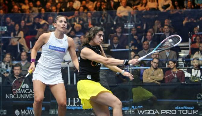 Women sport news - Camille Serme and Egypt's Nour El Sherbini contest Final