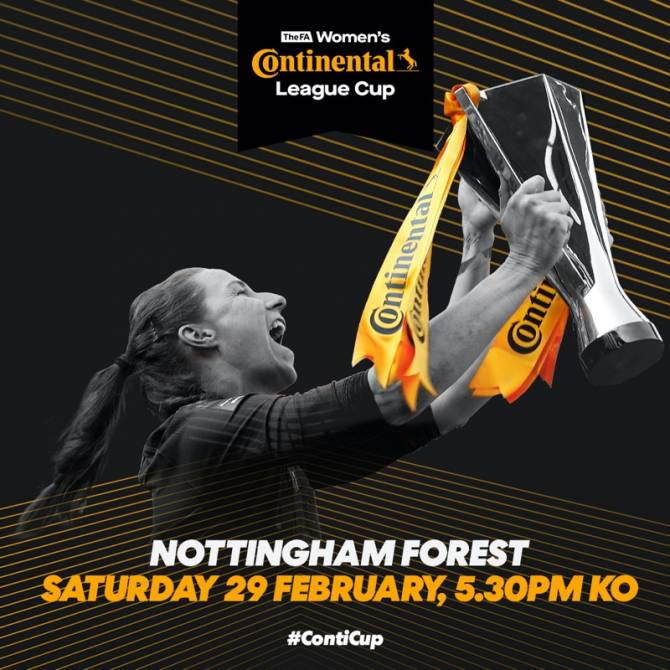 Conti Cup Final to be held at Forest