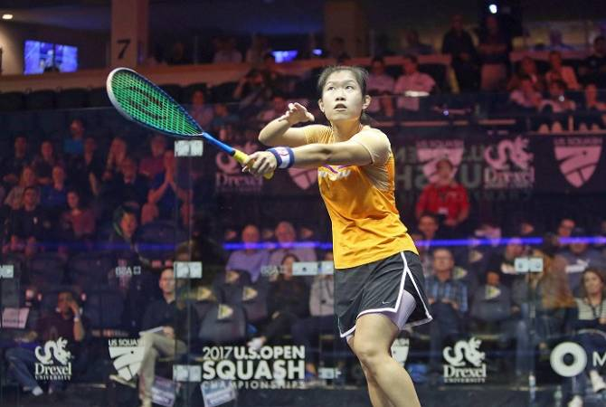 Women sport news - Hong Kong's Au Stuns Eight-time World Champion David To Reach U.S. Open Last 8