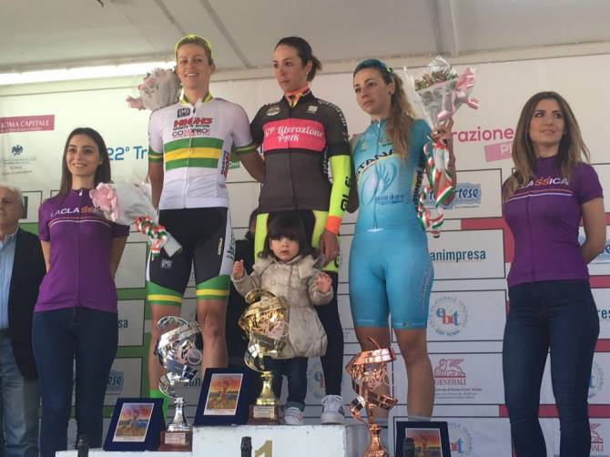 Women sport news - Kimberley Wells sprints to second in Rome at GP della Liberazione