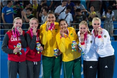 Women sport news -   Brazilian women net Beach Volleyball Nanjing 2014 Olympic Games gold medal