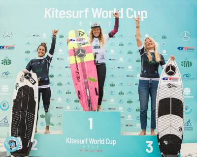 Women sport news - Carla retains the top spot to win the GKA Kite-Surf World Cup Sylt