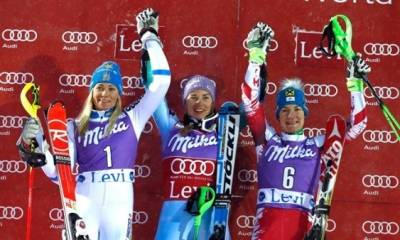 Women sport news - Maze Wins World Cup Women's Slalom, Gagnon frustrated with sixth place finish.