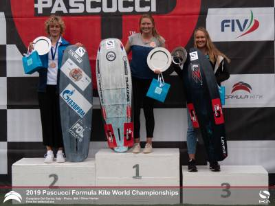 Women sport news - Reigning Champions Successfully Defend Crowns at Formula Kite Worlds in Italy