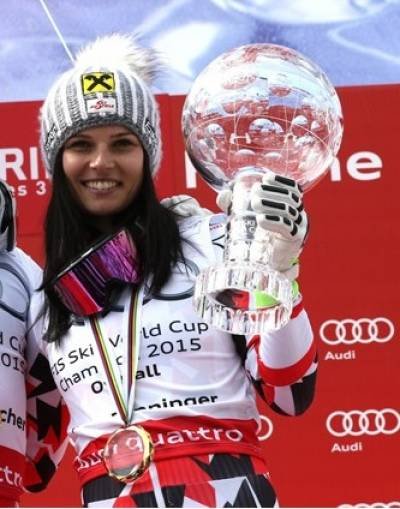 Women sport news - Austria's Anna Fenniger wins The World Cup Title