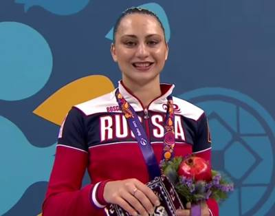 Women sport news - Baku European Games-Russian synchronised swimmer has won three gold medals at Baku 2015