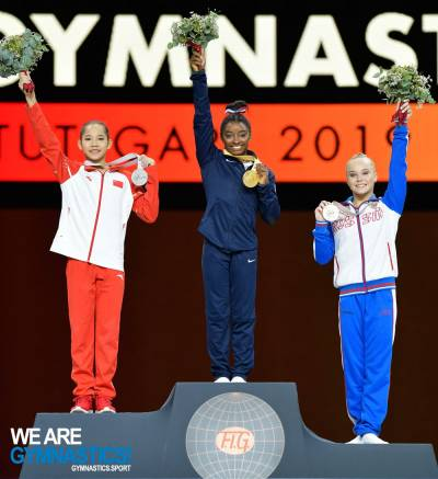 Women sport news - Biles wins record fifth world All-around title