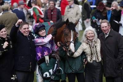 Women sport news - Bridget Andrews wins the County Hurdle in Cheltenham