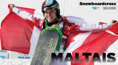 Women sport news - Canada's Dominique Maltais wins  Snowboard Cross Silver  in Sochi
