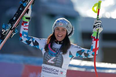 Women sport news - Career-first victory for Venier in Garmisch downhill