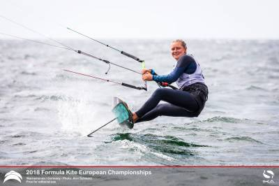 Women sport news - Daniela Moroz 2018 Formula kite European Champion in Warnemuende