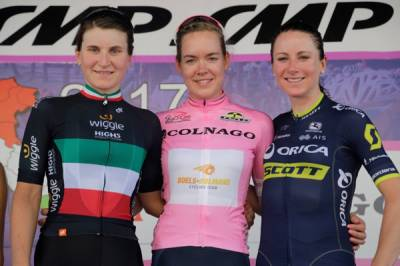 Women sport news - Elisa Longo Borghini finishes second overall in final Giro Rosa standings