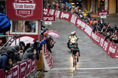 Women sport news - Elisa Longo Borghini Third In Tough, Muddy Strade Bianche