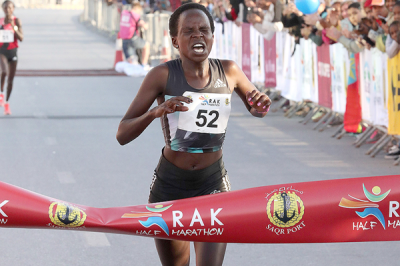 Women sport news - Jepchirchir breaks world half marathon record in Ras al-Khaimah