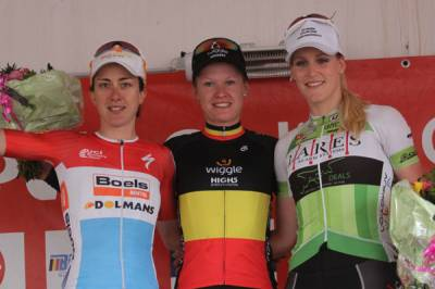 Women sport news - Jolien D'hoore wins third straight Flanders Diamond Tour