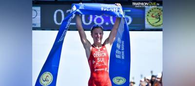 Women sport news - Julie Derron earns first-ever World Cup title in China