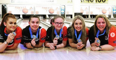 Women sport news - Junior Team England Girls Become Three Time Tenpin Bowling European Champions!