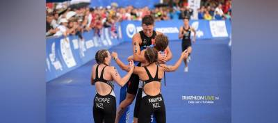 Women sport news - Knighton, Reid, Thorpe & Wilde win home Mixed Relay gold for New Zealand