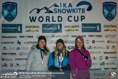 Women sport news - Lago di Resia provides perfect conditions for the kick off for the 2018 IKA SnowKite World Cup