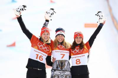 Women sport news - ledecka completes historic double Gold