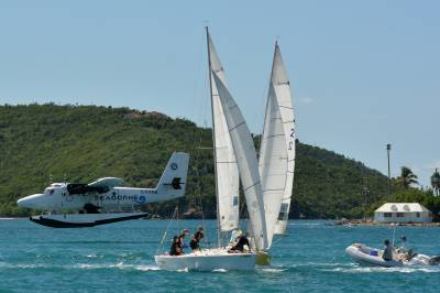 Women sport news - Light & Shifty Winds Challenge Sailors on Day One