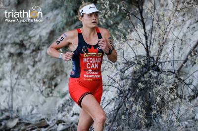 Women sport news - McQuaid (CAN) battles the off road to be named Cross Triathlon World Champion