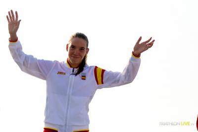 Women sport news - Spain sweeps gold in the Aquathlon debut at the ANOC World Beach Games