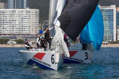 Women sport news - Spooky Saturday match racing in Busan – 2015 WIM Series nail-biter to be decided Sunday