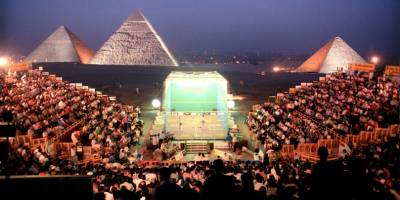 Women sport news - Squash Returns To Great Pyramid of Giza