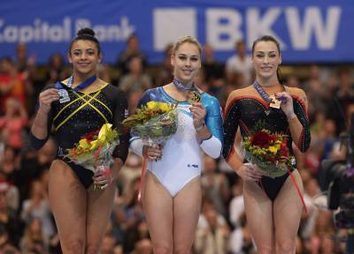 Women sport news - Standing ovation as Steingruber claims double gold in Bern