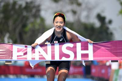 Women sport news - Takahashi dominates triathlon at the Asian Games to claim the gold medal