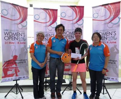 Women sport news - Tsz-Wing Fells Arnold to Capture Penang Open Crown