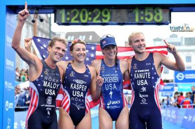 Women sport news - United States win first Mixed Relay World title