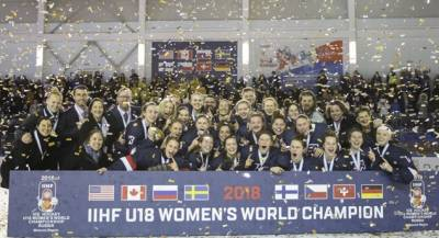 Women sport news - U.S. takes Gold at 2018 IIHF U18 Women's World Championship