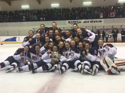 Women sport news - U.S. Tops Canada, 3-2, in Overtime For Fourth Straight World Championship