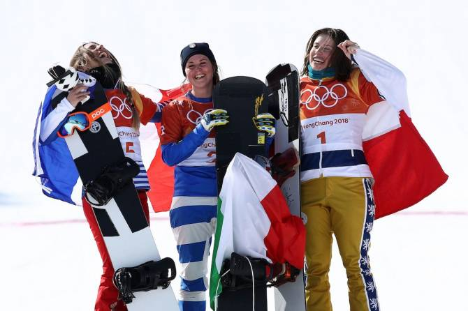 Women sport news - Moioli wins women's Snowboard Final which had it all