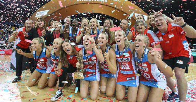 NSW Swifts 2019 Suncorp Super Netball Champions
