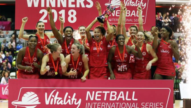 Women sport news - Roses secure third win of the Vitality Netball International Series