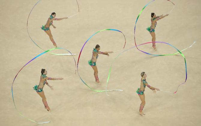Women sport news - Russia rallies for gold in rhythmic gymnastics group final, Spain wins silver