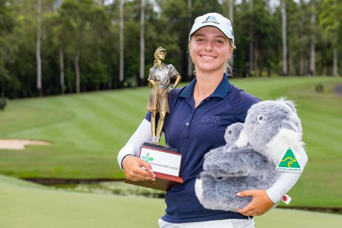 Women sport news - Stephanie Kyriacou wins The Australian Ladies Classic Bonville
