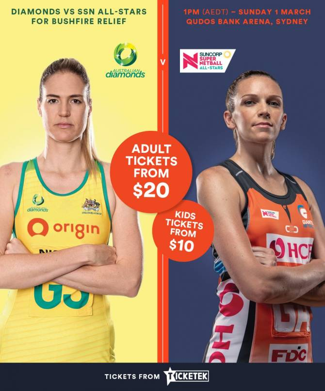 Women sport news - Suncorp Super Shot introduced for Origin Diamonds v SSN All-Stars