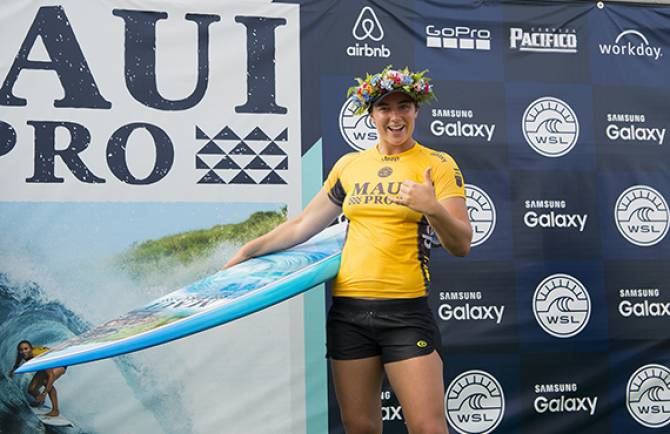 Women sport news - Tyler Wright, Newly Crowned 2016 WSL Champion, Wins Maui Women's Pro