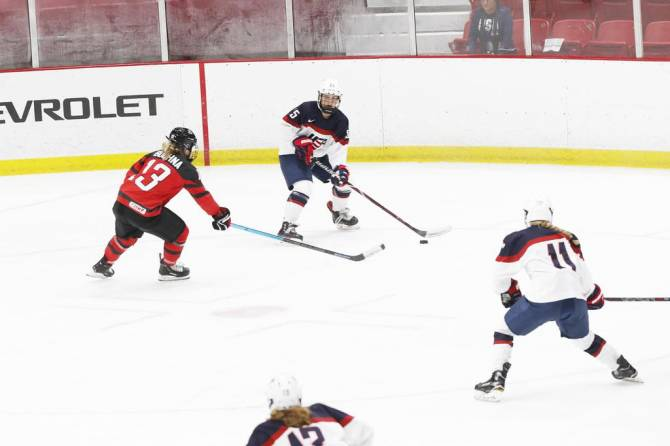 Women sport news - U.S. Women Fall to Canada in Final Games of U18 & U22 Series