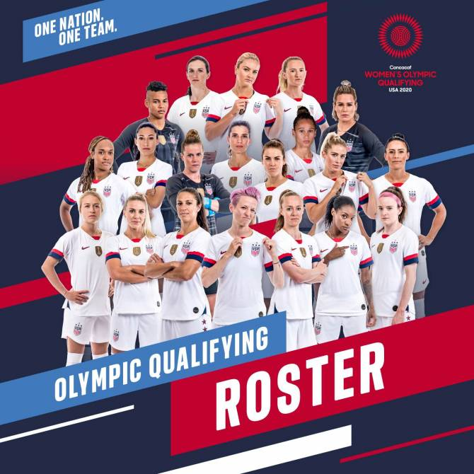 Women sport news - USA set for 2020 Concacaf Women's Olympic Qualifying Tournament
