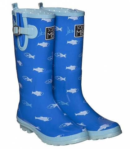 SoleM8 Funny Fish Wellington Boots